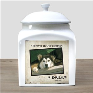 Personalized Ceramic Pet Photo Urn | Memorial Gifts