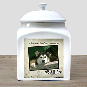 Personalized Ceramic Pet Photo Urn U381016