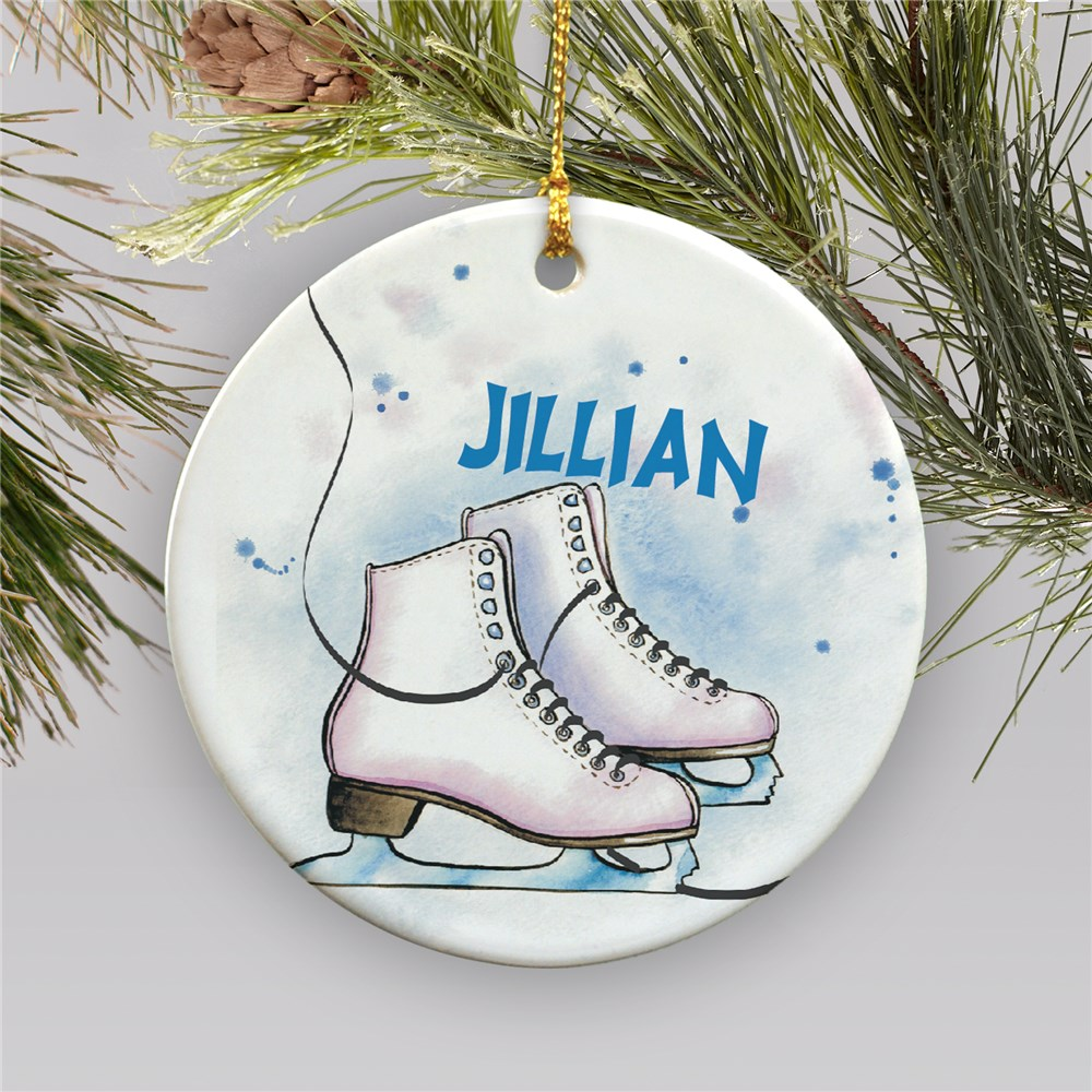 Personalized Ice Skating Ornament | Ceramic | Personalized Sports Ornaments