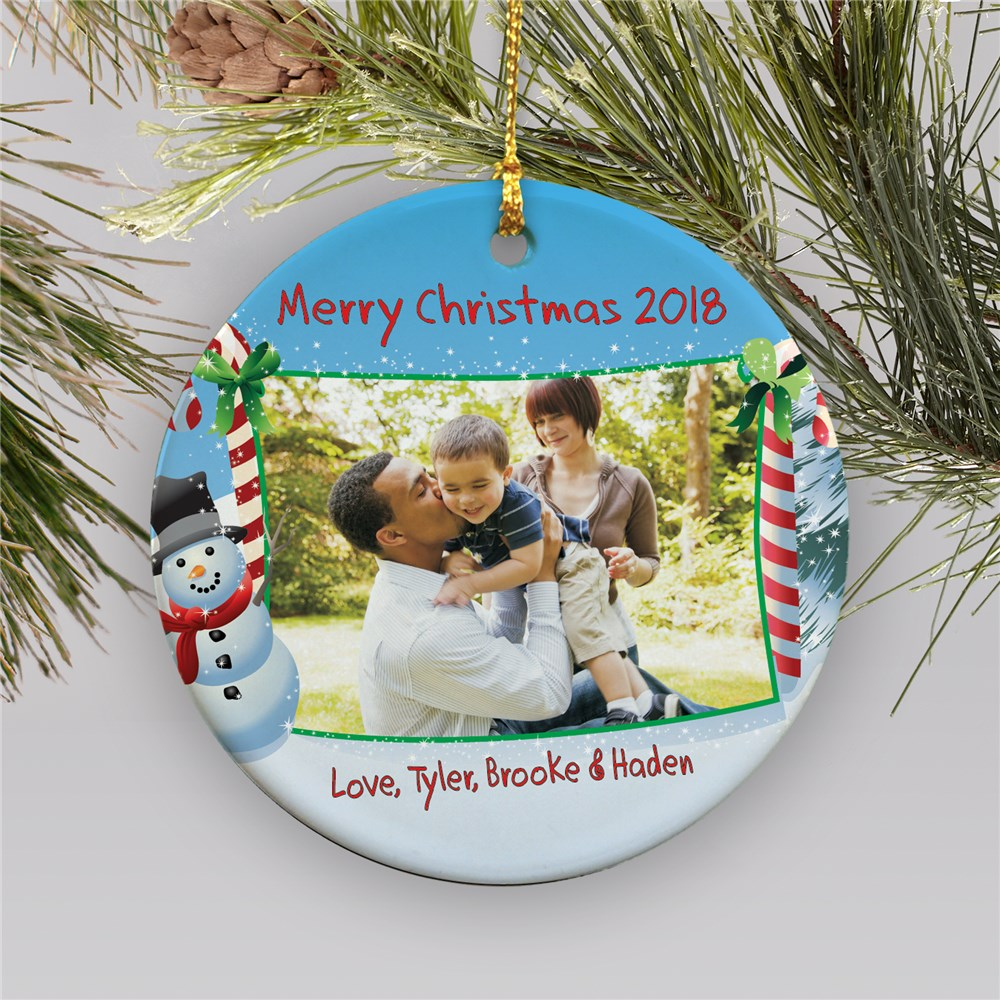 Ceramic Christmas Photo Ornament | Picture Ornaments