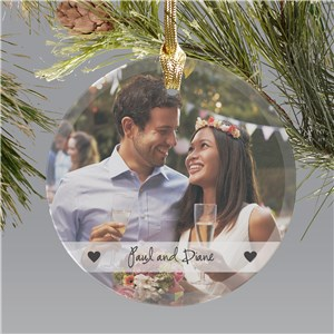 Glass Photo Ornament | Valentine Keepsake Gifts