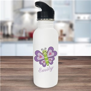 Personalized Butterfly Water Bottle U392720