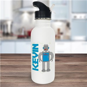 Personalized Robot Water Bottle U393220