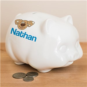 Personalized Piggy Bank | Dog Themed Kids Gifts