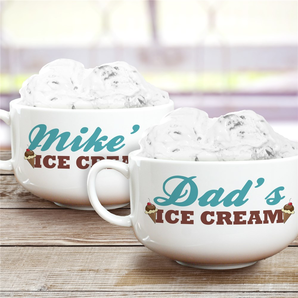 Personalized Ceramic Ice Cream Bowl | Personalized Ice Cream Bowl