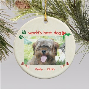 Dog Photo Christmas Ornament | Personalized Pet Ornaments