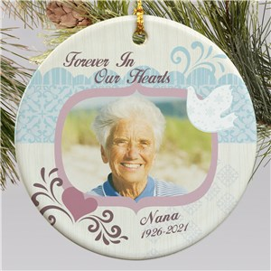 Ceramic Memorial Photo Ornament | Memorial Christmas Ornaments