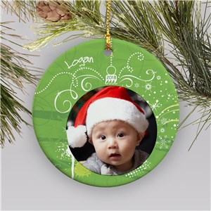 Personalized Ceramic Photo Ornament | Picture Ornaments