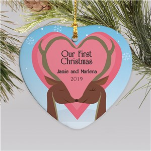 Our First Christmas Heart Ornament | Couples First Christmas Ornament