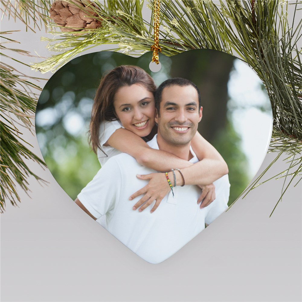 Heart-Shaped Photo Ornament | Picture Ornaments