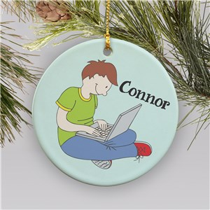 Personalized Laptop Ornament | Ceramic | Personalized Christmas Ornaments For Kids