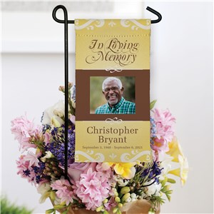 Personalized In Loving Memory Photo Flag