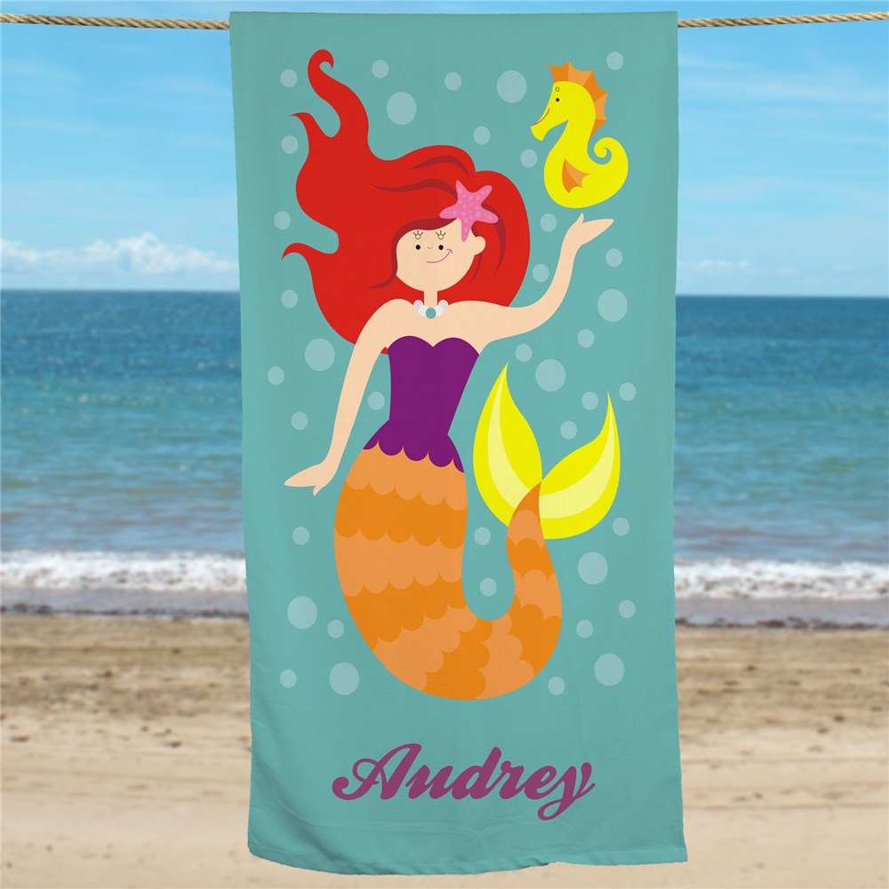 Personalized Beach Towel | Mermaid Beach Towel