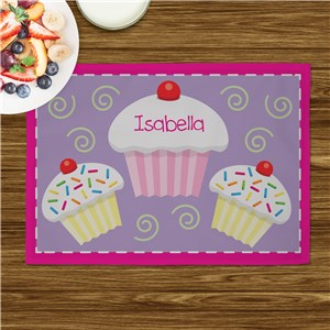 Personalized Cupcake Placemate | Personalized Placemats For Kids