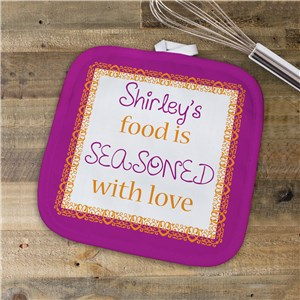 Pot Holder With Name | Seasoned With Love Kitchen Gift