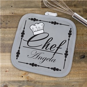 Personalized Chef Pot Holder U617442