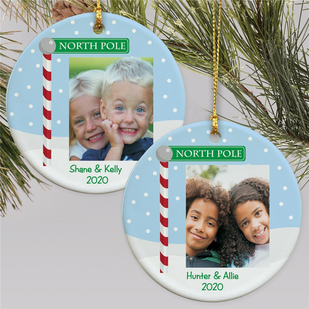 Personalized Santa Photo Ornament | Picture Ornaments