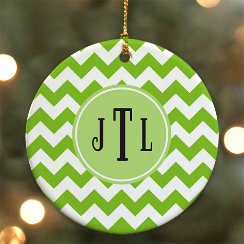 Monogram Madness Ceramic Ornament | Personalized Christmas Ornaments
