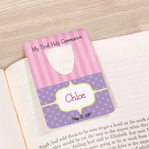 Personalized My First Holy Communion Bookmark U63355