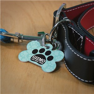 Personalized Pet Tag | Paw Print Dog Tag