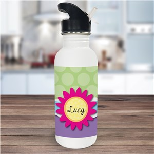 Personalized Flower Water Bottle U675520