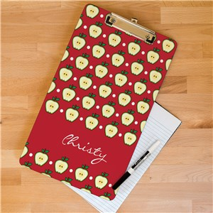 Personalized Teacher's Apple Dry Erase Clipboard | Personalized Teacher Gifts