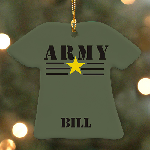 Personalized Ceramic Army T-Shirt Ornament U678363