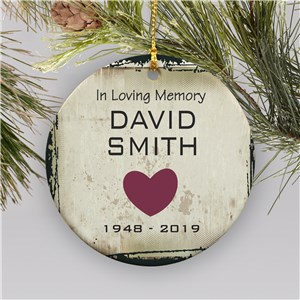 In Loving Memory Personalized Christmas Ornament | Memorial Ornaments