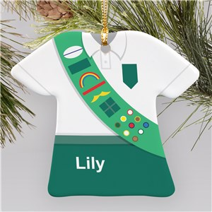 Personalized Girl Scout Ornament | Ceramic | Kids Christmas Ornaments