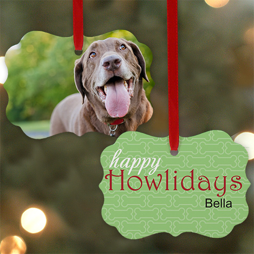 Personalized Happy Holidays Photo Ornament | Personalized Pet Ornaments