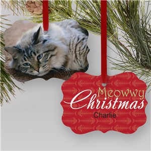 Personalized Benelux Cat Photo Ornament | Personalized Pet Ornaments