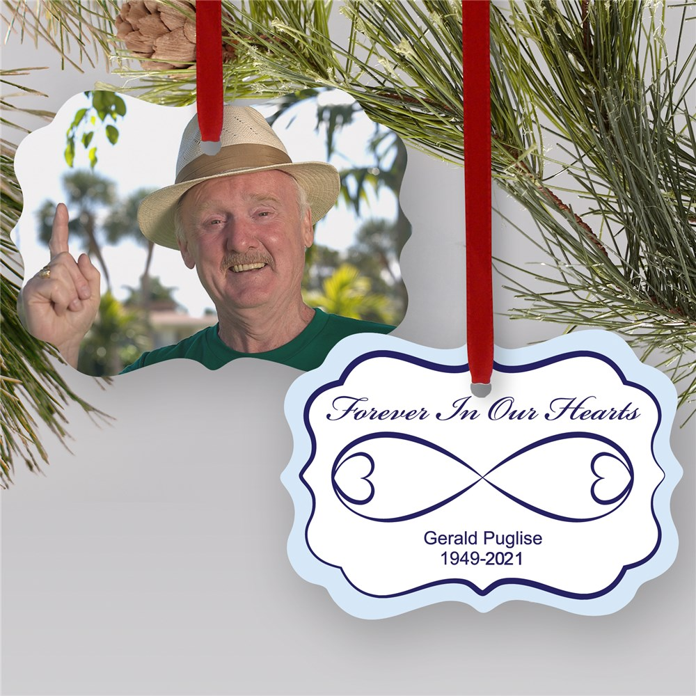 Sympathy Gift Photo Ornament | Photo Memorial Ornament | Memorial Christmas Ornaments