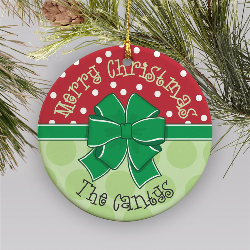 Personalized Merry Christmas Ornament | Personalized Christmas Ornament