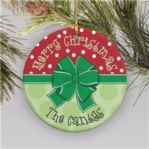 Personalized Merry Christmas Ornament