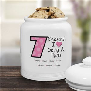 Personalized Reasons I Love Cookie Jar | Mother's Day Gifts
