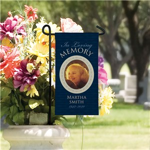 Photo Memorial Mini Garden Flag