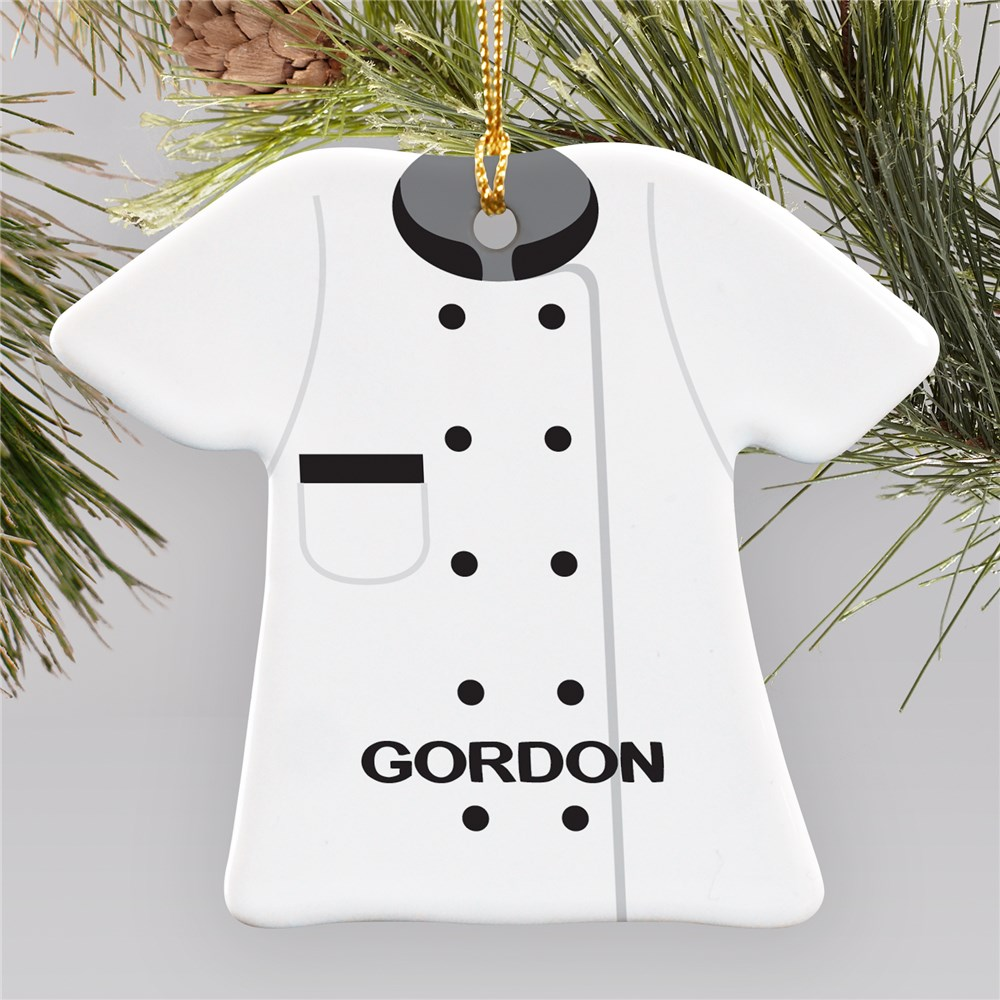 Personalized Ceramic Chef Ornament | Chef Christmas Ornaments