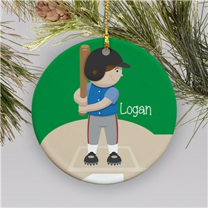 Personalized Ceramic Baseball Ornament | Personalized Baseball Ornaments