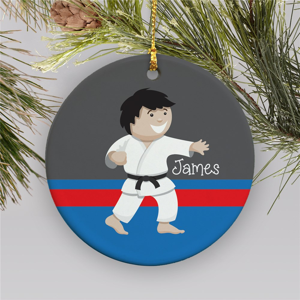 Personalized Boy Karate Boy Ornament | Personalized Karate Ornament