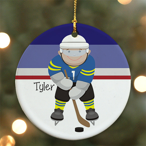 Personalized Ceramic Hockey Ornament U722510