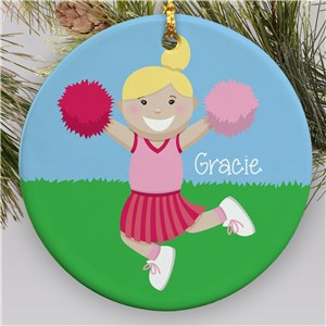 Personalized Cheerleader Ornament | Ceramic | Kids Christmas Ornaments