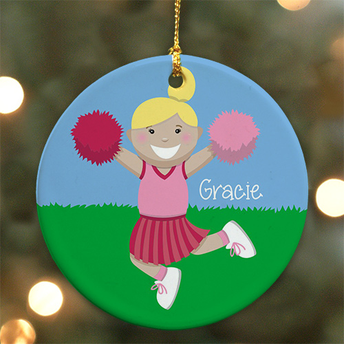 Personalized Ceramic Cheerleader Ornament U722610