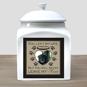 Personalized Pet Photo Ceramic Urn | Pet Urns