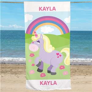 Personalized Unicorn Beach Towel U761533