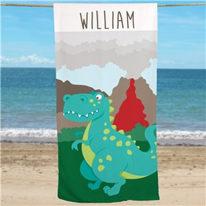 Personalized Dinosaur Beach Towel U761633