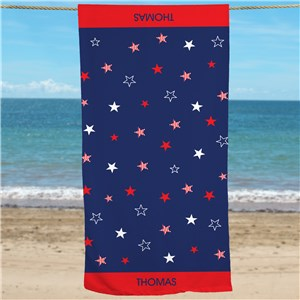 Personalized American Pride Beach Towel U777233