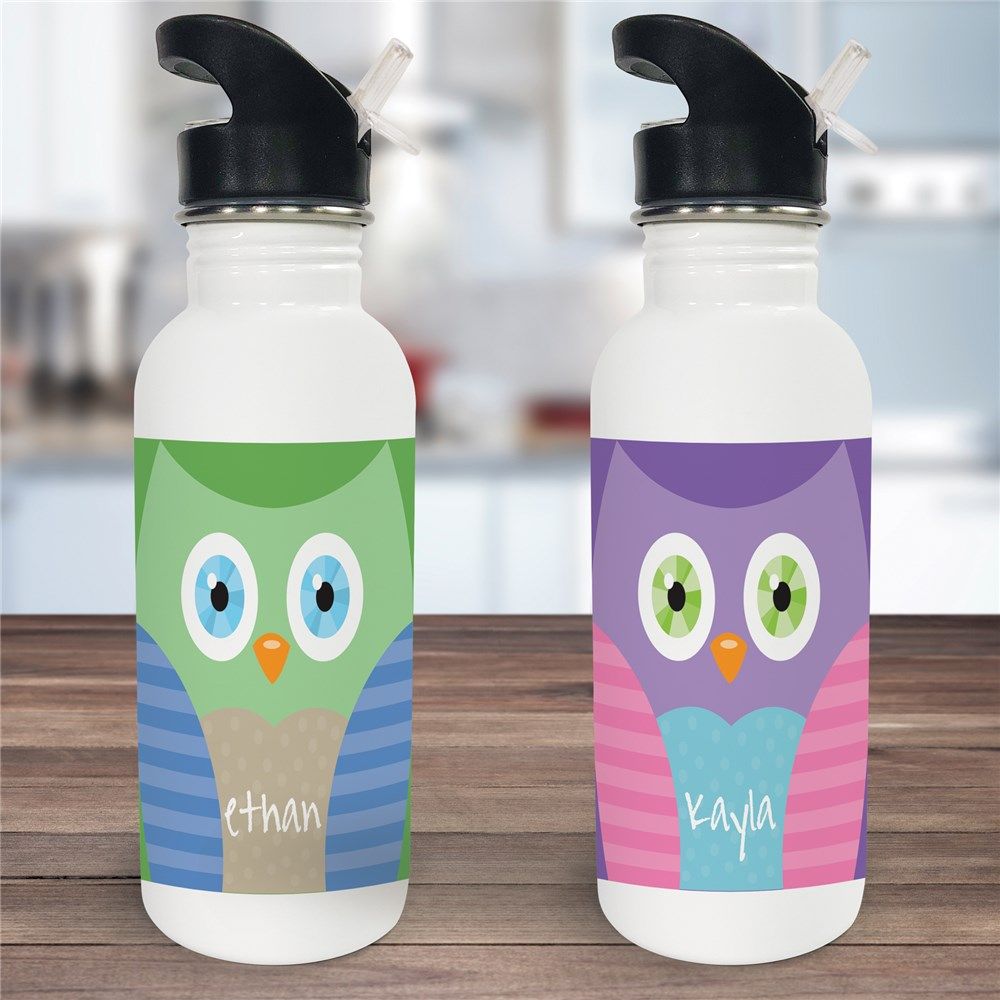 Personalized Owl Water Bottle U779920