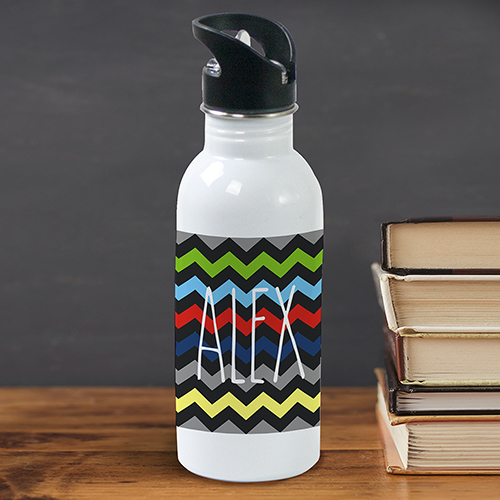 Personalized Any Name Chevron Water Bottle U780320