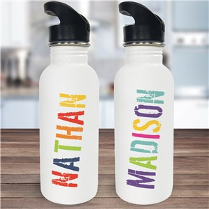 Personalized Any Name Water Bottle U780620