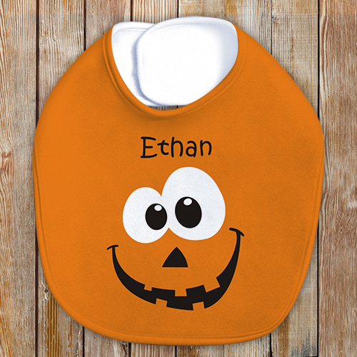 Personalized Pumpkin Baby Bib | Personalized Baby Bib